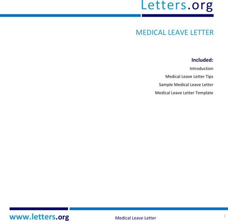Medical Check Up Leave Letter