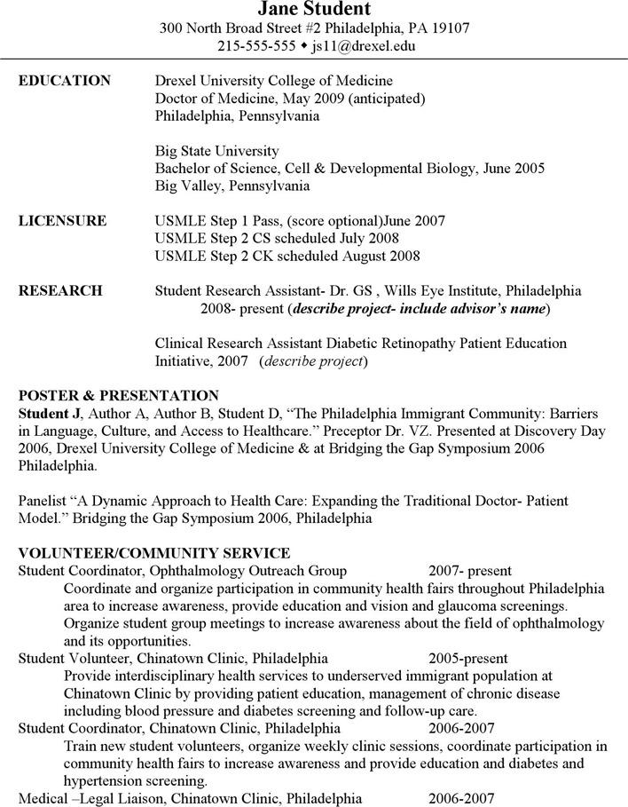 Medical CV Template 1