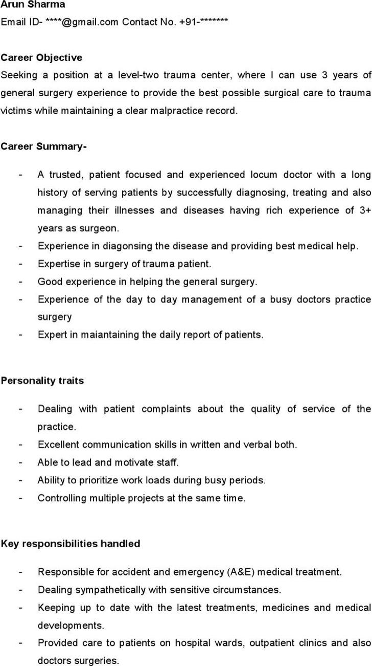 Medical Doctor Resume Template