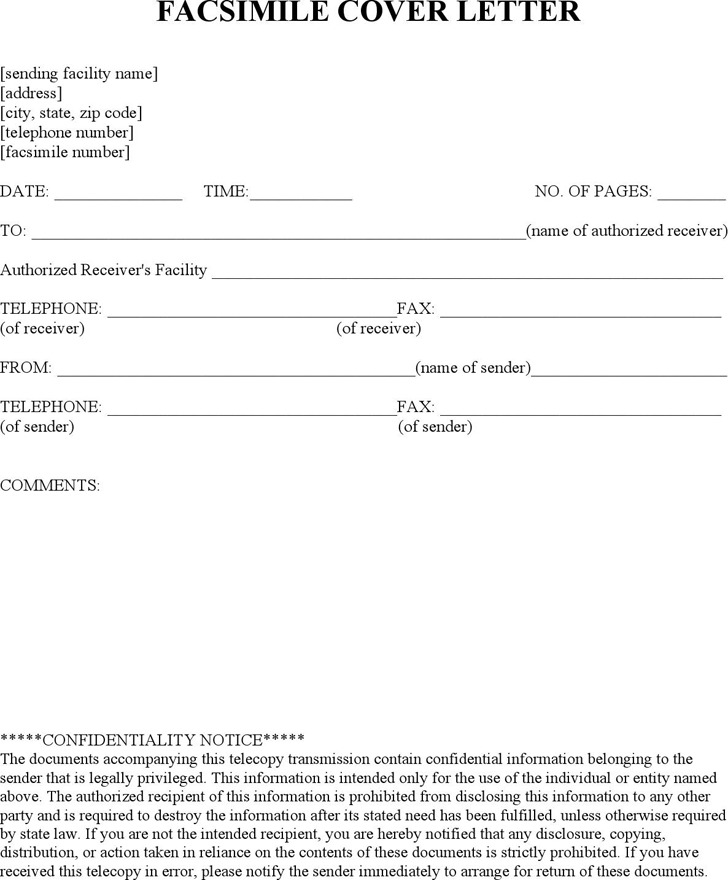Medical Hipaa Fax Cover Sheet