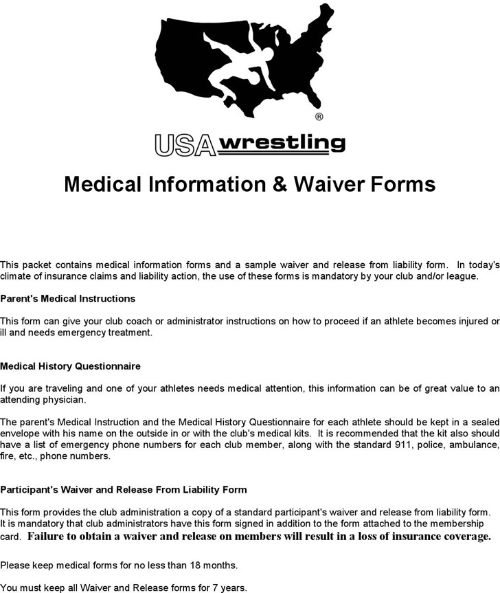 Medical Information & Waiver Forms