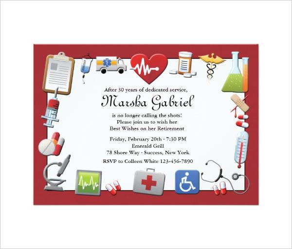 Medical Retirement Party Invitation Template