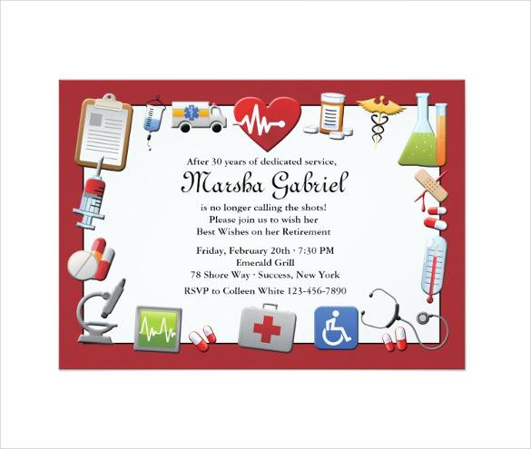 Medical Retirement Party Invitation1