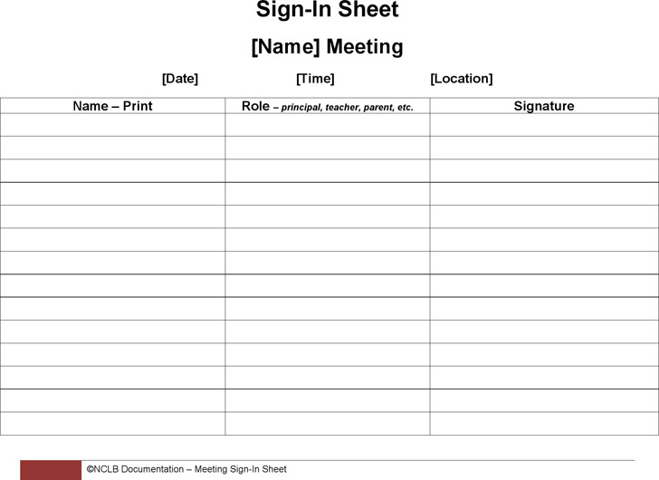 Meeting Sign-in Sheet