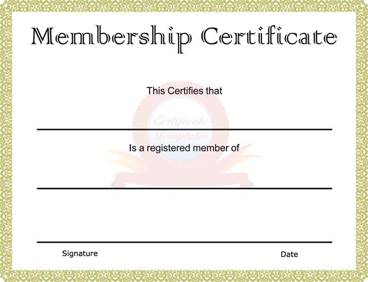 Membership Certificate 2