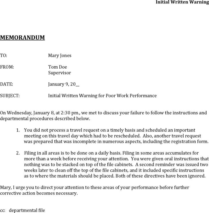 Memorandum Sample Letter