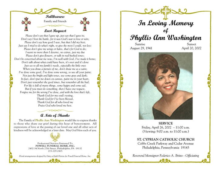 9 Funeral Program Templates Free Download