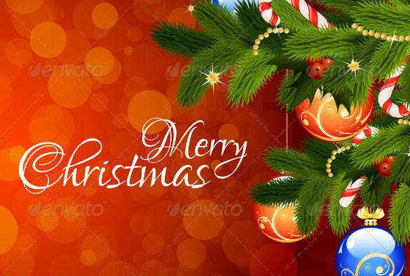 Merry Christmas Greeting Card EPS Format