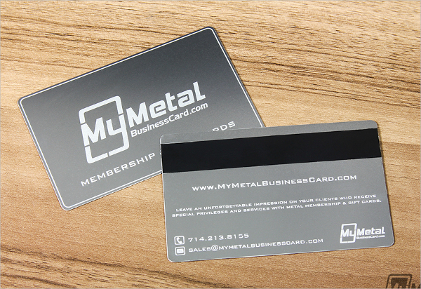 Metal Business Cards with Magnetic Stripes