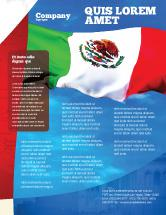 Mexican Flag Newsletter Template Free Download Word Doc