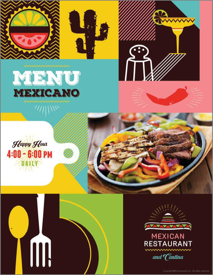3 mexican restaurant menu template free download