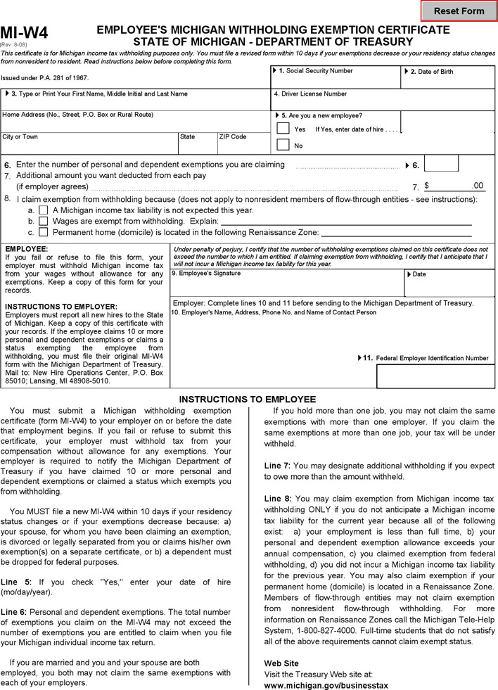 Download Michigan State Tax Withholding Forms For Free Tidytemplates