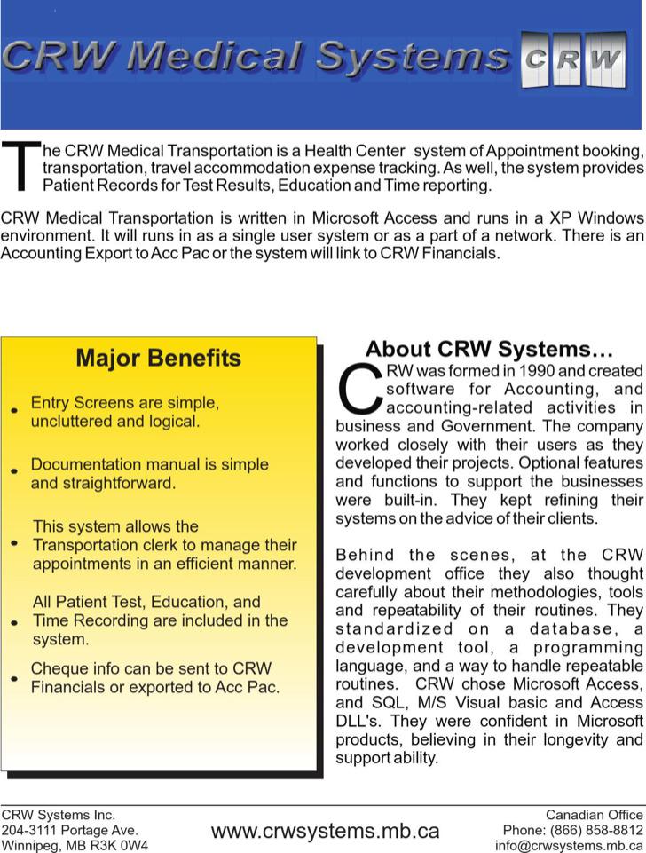 Microsoft Medical Brochure Free Pdf Format Template