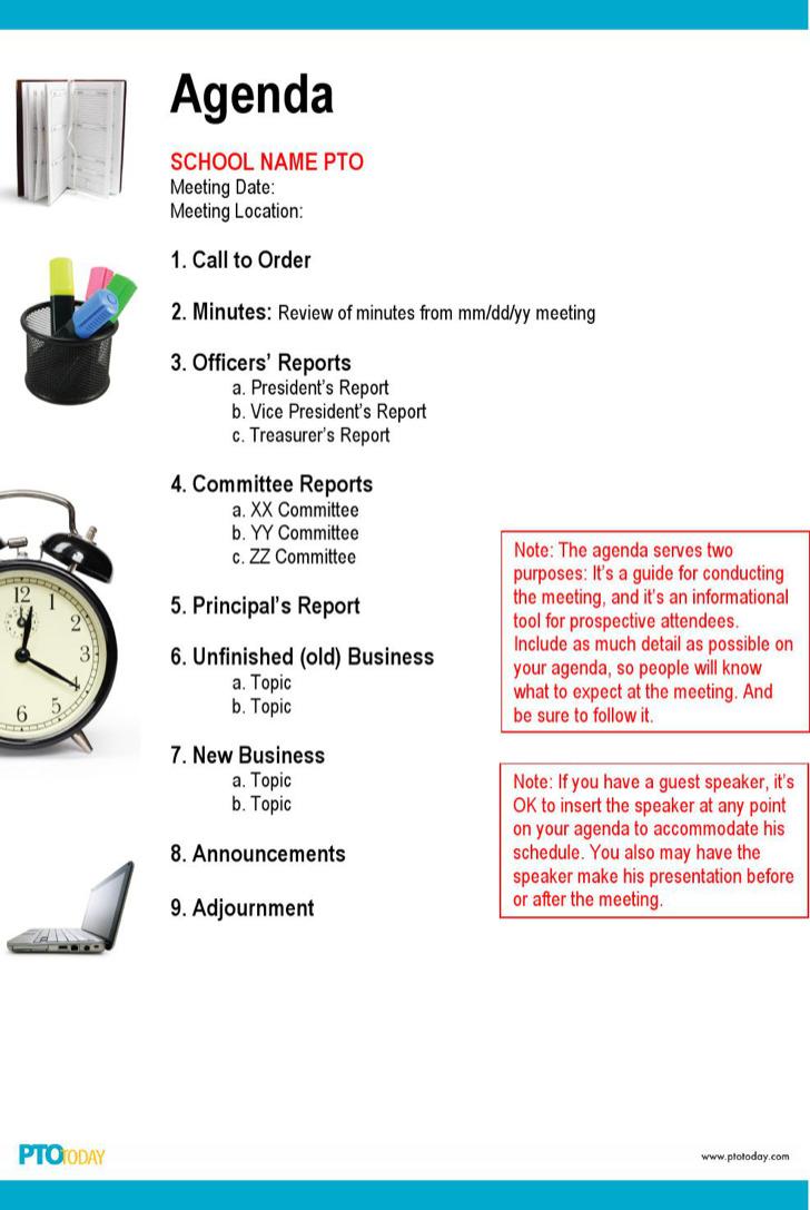 Microsoft Meeting Agenda Outline