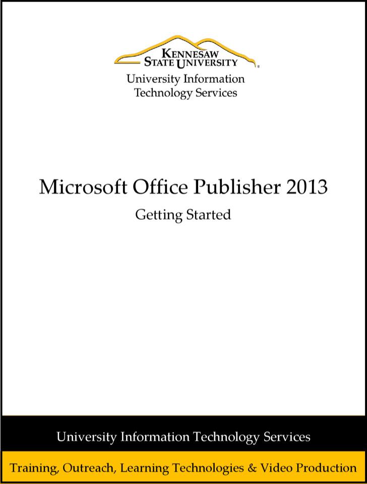 Microsooft Publisher 2013 Brochure Free Pdf Template