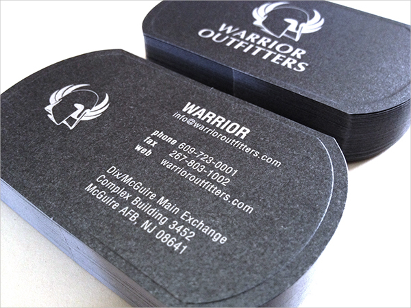 Military Warrior Business Card