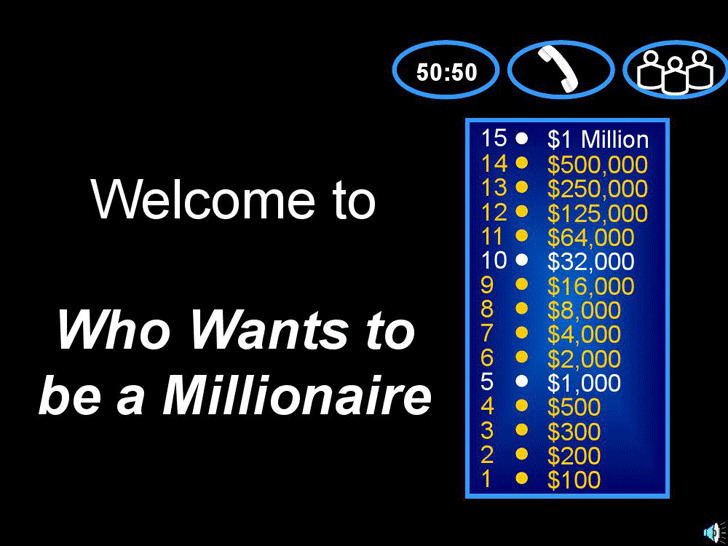 Millionaire Game Template