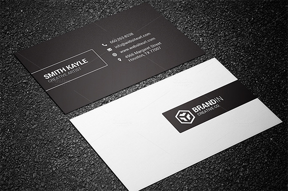 Minimal Premium Black Business Card For You