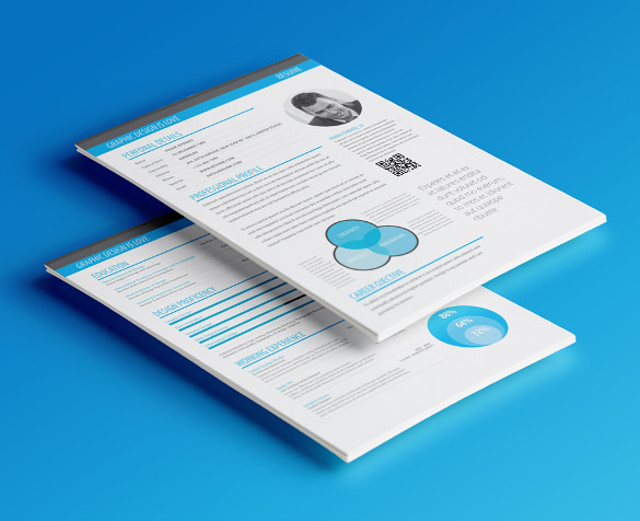 Minimalism Infographic Resume Template Premium Download