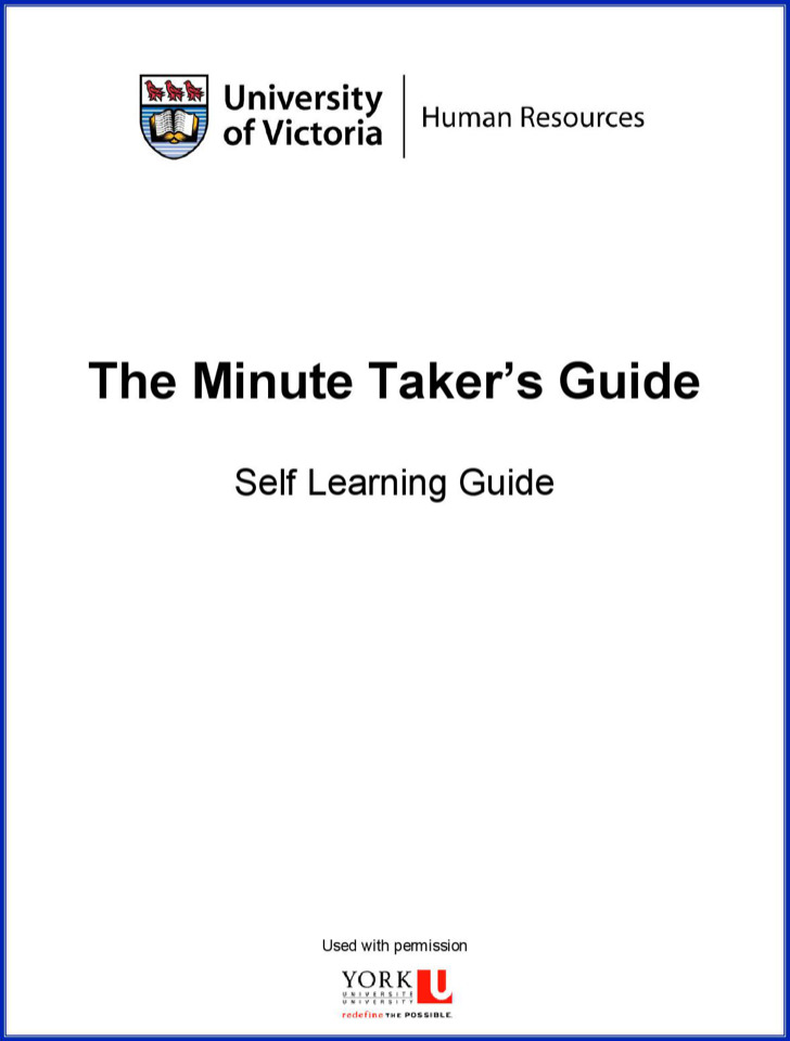 Minute Takers Guide