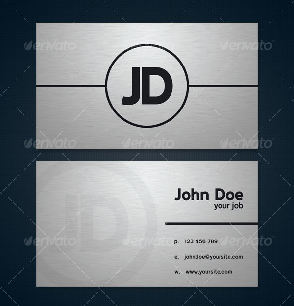 Modern Brushed Metal Business Card