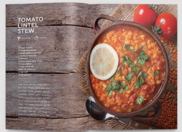 Modern Cookbook InDesign Template EPS Format Download