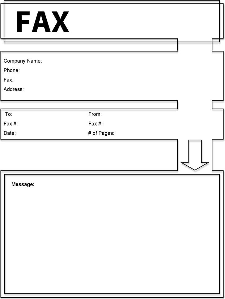 Modern Fax Cover Sheet 1