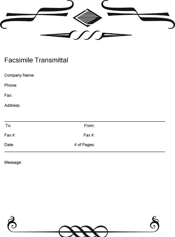 Modern Fax Cover Sheet 3