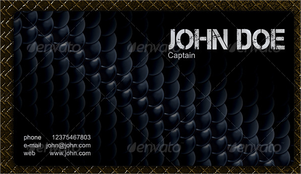 Modern Military Business Card