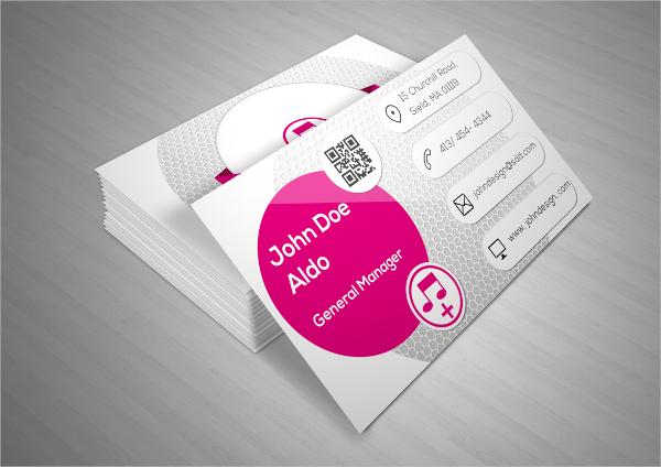 Modern Music Business Card
