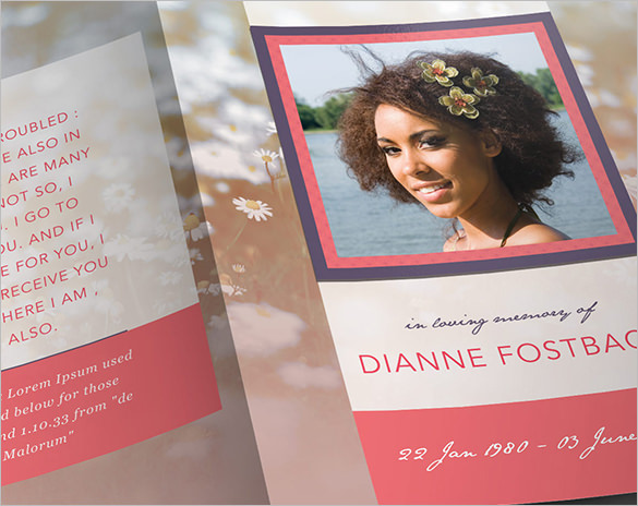 Modern PSD Obituary Program Template