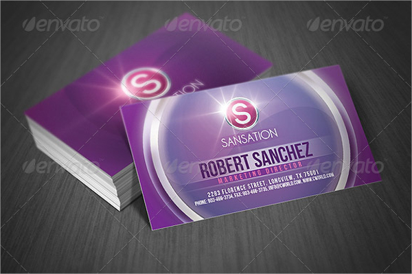 Modern Style Glossy Business Card Template