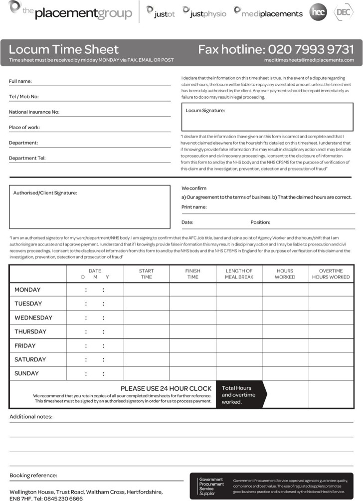 Monthly Overtime Sheet Template Download In Pdf