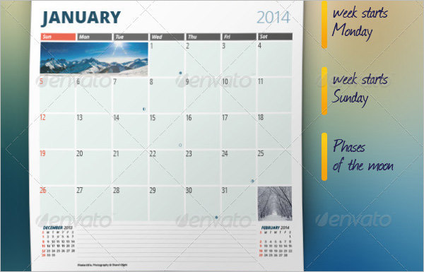 Monthly Planner Template 2014-2015
