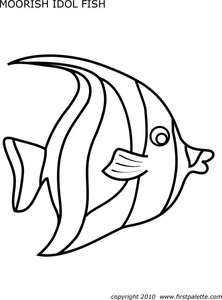 Moorish Idol Fish Template