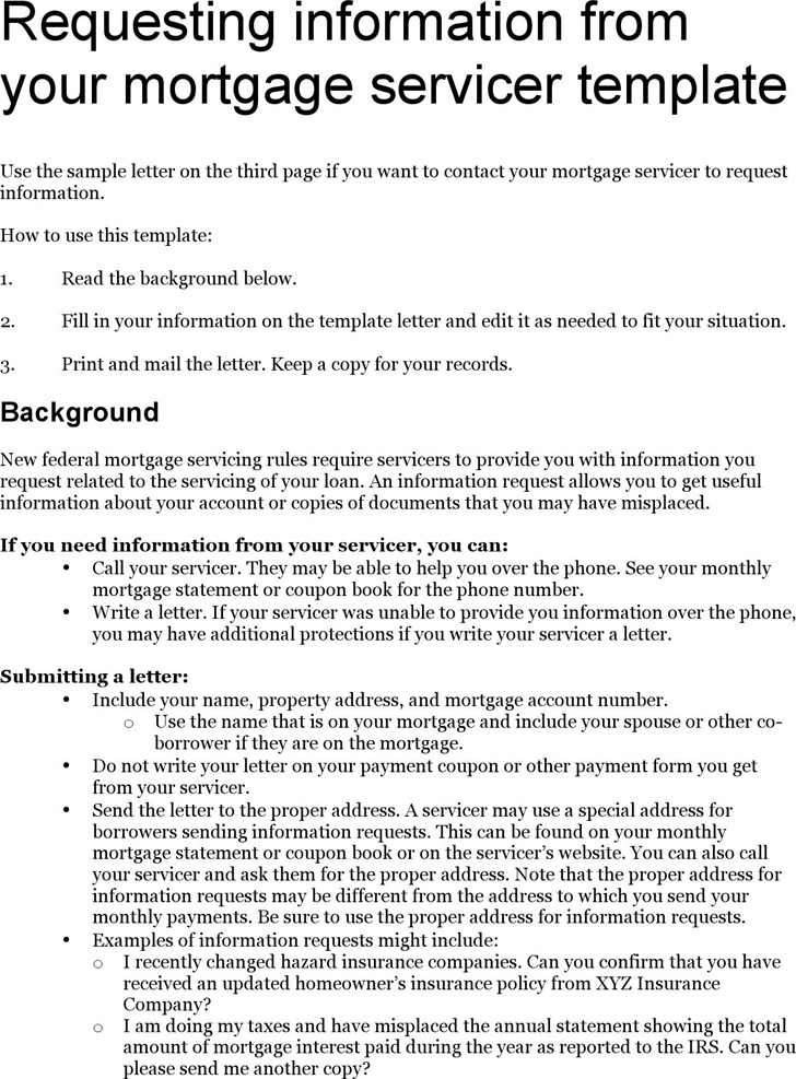 Mortgage Letter Templates