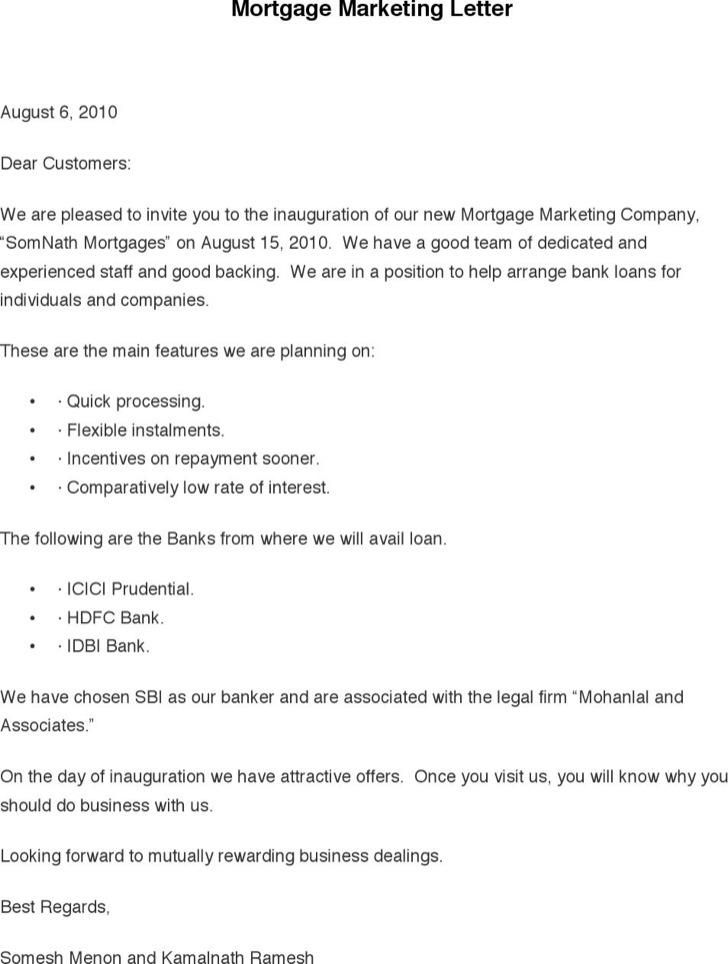 Mortgage Marketing Letter