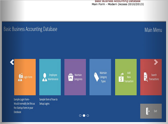 MS Access Business Accounting Database Template