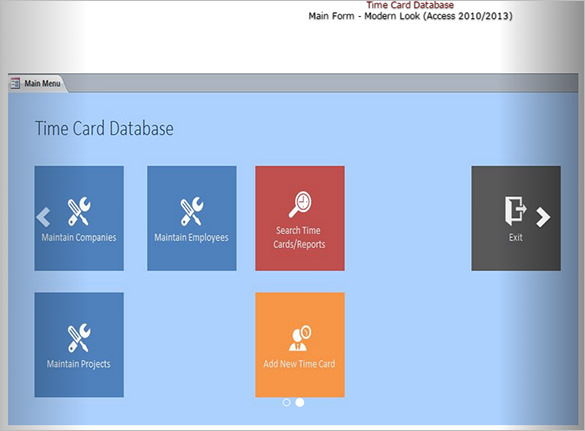 MS Access TimeCard Template Download
