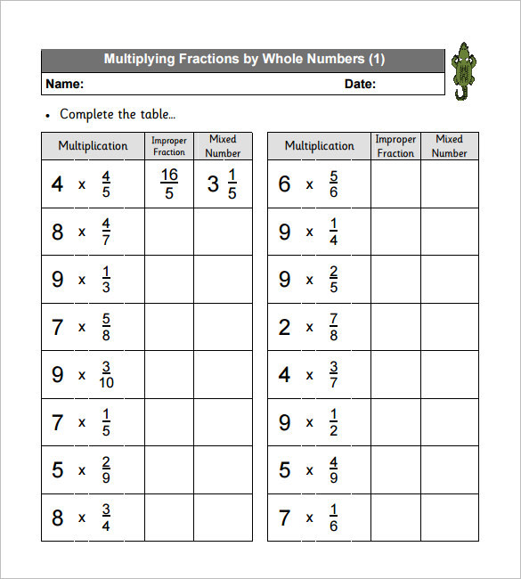 11 multiplying fractions worksheet templates free download. Black Bedroom Furniture Sets. Home Design Ideas