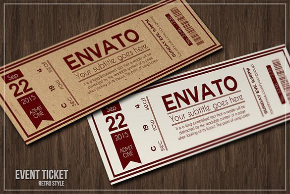 Multipurpose Retro Invitation Ticket