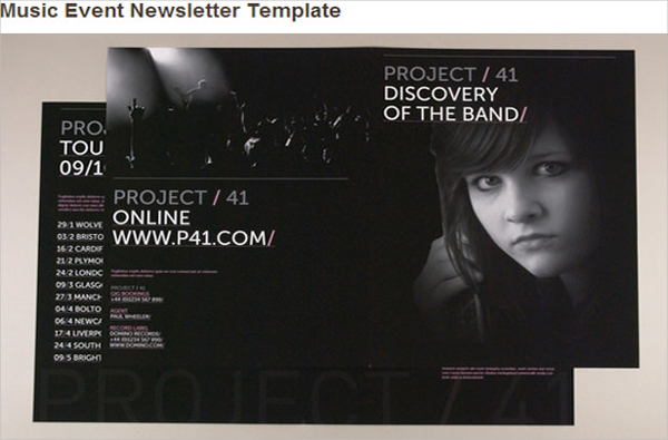 Music Event Newsletter Template