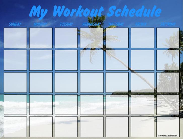 My Work Schedule Template