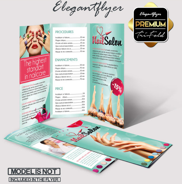 Nail - Free Tri-Fold PSD Brochure Template Download