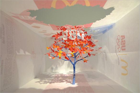 Nature Paper Art Design