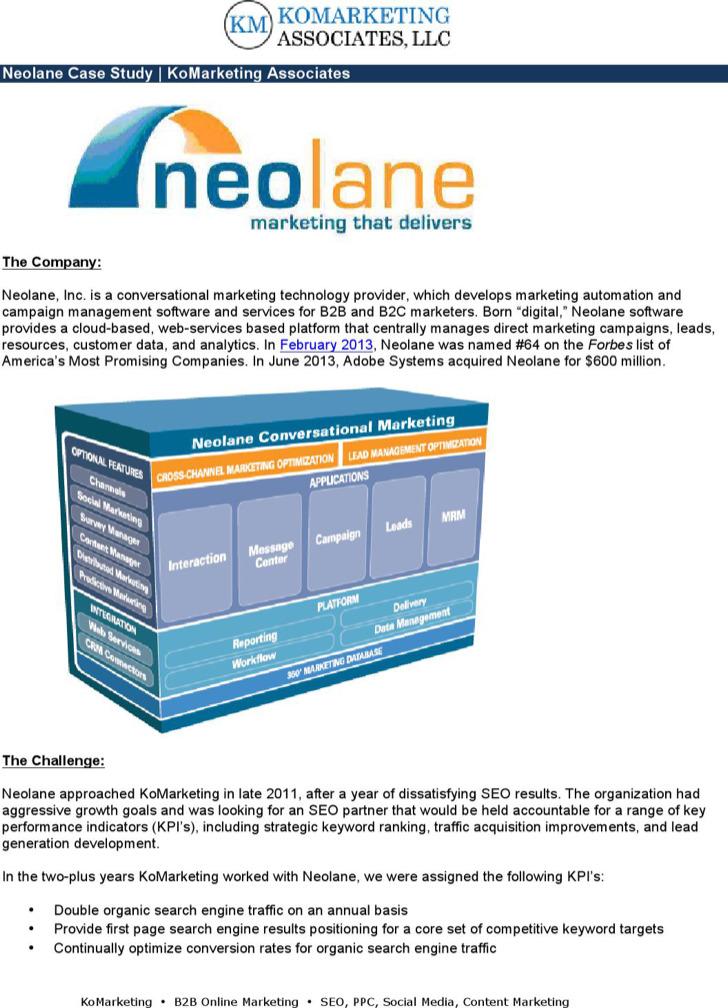 Neolane Marketing Case Study