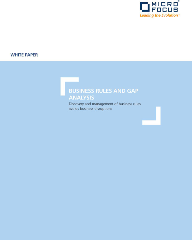 New Business Gap Analysis Rules