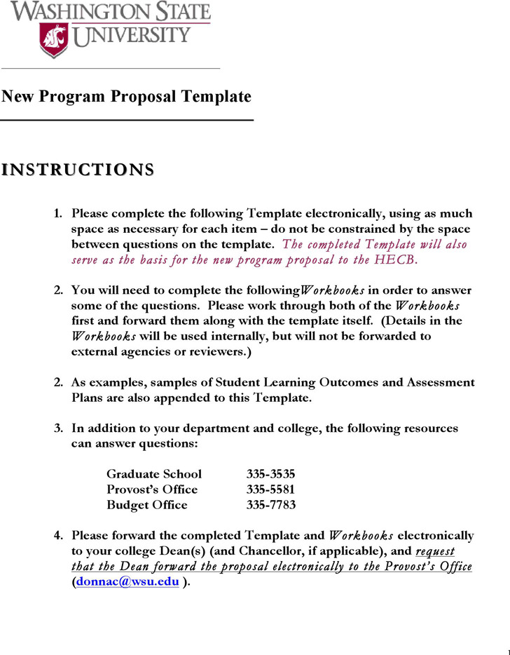 New Program Proposal Template