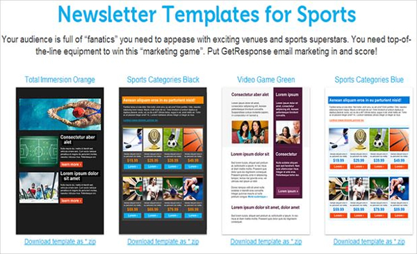 Newsletter Templates for Sports