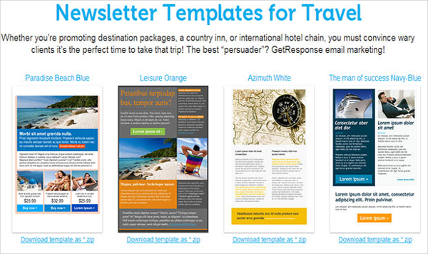 Newsletter Templates for Travel
